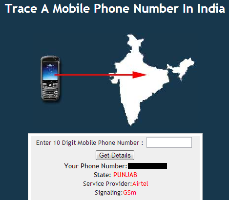trace india cell phone numbers free