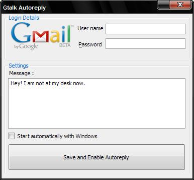 Gtalk Autoreply to sent automatic reply in gtalk