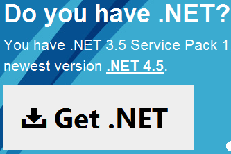 find dot net version in your web browser