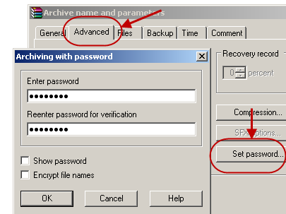 image file password protection