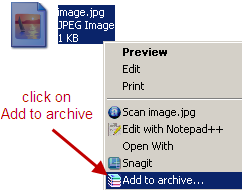 password protect an image file