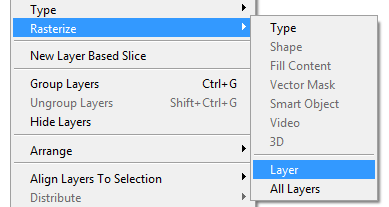 How to rasterize text in photoshop - Quora