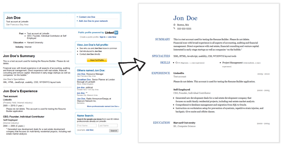 Perfect HackTrix Throughout Create Resume From Linkedin
