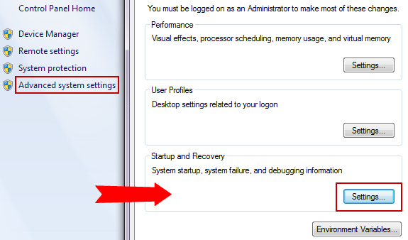 windows 7 advanced system settings