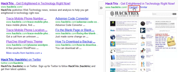 how to clear google website cache