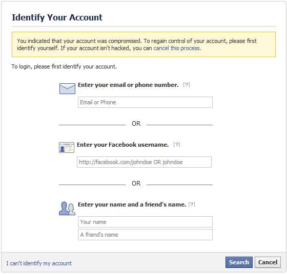 How to recover your hacked facebook account once ccuart Choice Image