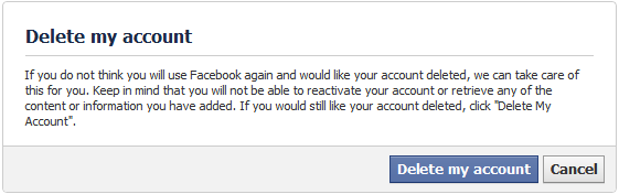 How to delete your facebook account permanently facebook ccuart Images