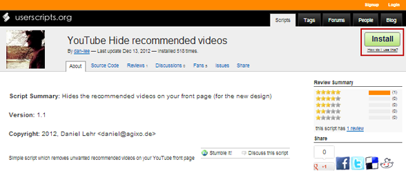 How to remove hide disable recommended videos on youtube thats it ccuart Image collections