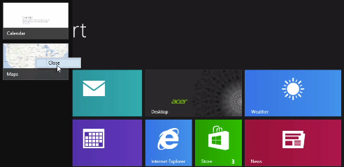 How To Close Windows 8 Apps