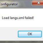 Fix Load langs.xml Failed Error in Notepad++