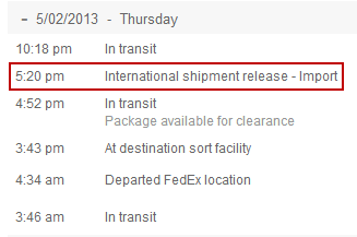 What is International or Intl Shipment Release in FedEx Tracking