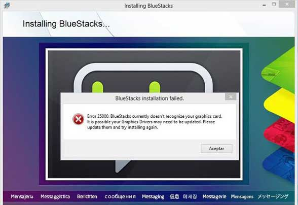 BlueStacks Doesnt Recognize Your Graphic Card