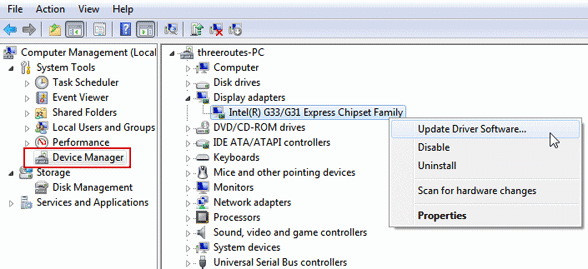 update device driver windows